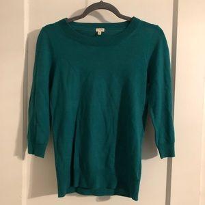 JCrew teal sweater